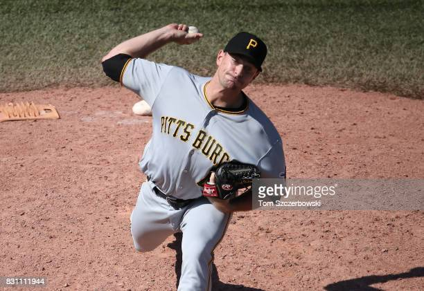 Daniel Hudson of the Pittsburgh Pirates delivers a pitch in the ninth inning during MLB game action against the Toronto Blue Jays at Rogers Centre on...