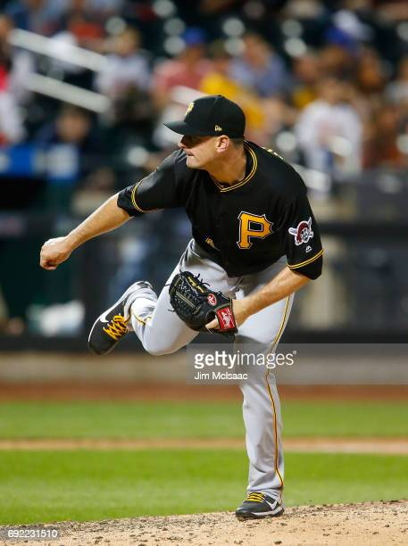 Daniel Hudson of the Pittsburgh Pirates in action against the New York Mets at Citi Field on June 2 2017 in the Flushing neighborhood of the Queens...