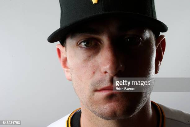 Daniel Hudson of the Pittsburgh Pirates poses for a photograph during MLB spring training photo day on February 19 2017 at Pirate City in Bradenton...