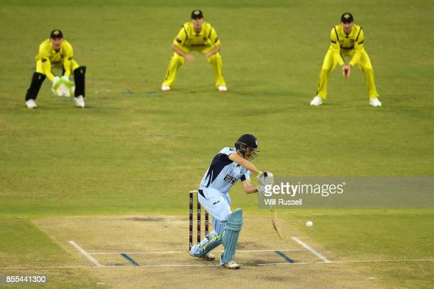 Daniel Hughes bats during the JLT One Day Cup match between New South Wales and Western Australia at WACA on September 29 2017 in Perth Australia
