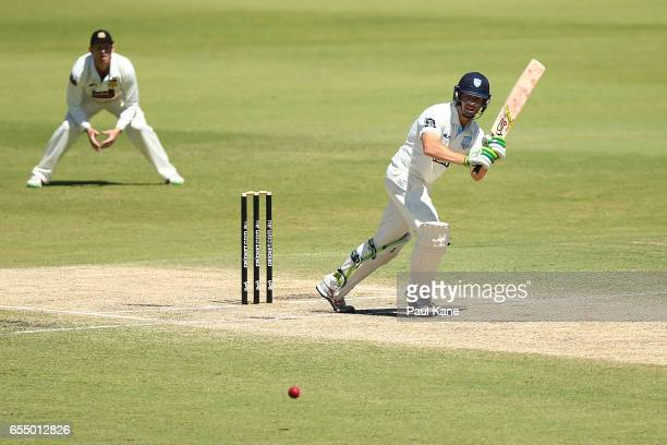 Daniel Hughes of New South Wales bats during the Sheffield Shield match between Western Australia and New South Wales at WACA on March 19 2017 in...