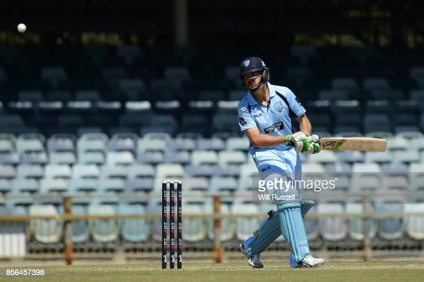 Daniel Hughes of the Blues bats during the One Day Cup match between New South Wales and Tasmania at WACA on October 2 2017 in Perth Australia