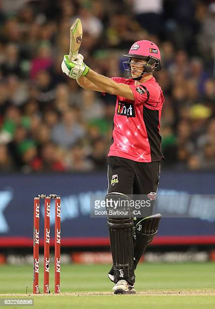 Daniel Hughes of the Sixers bats during the Big Bash League match between the Melbourne Stars and the Sydney Sixers at the Melbourne Cricket Ground...