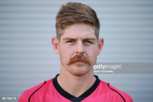 Daniel Hughes of the Sydney Sixers poese during the Big Bash League tickets on sale media opportunity at Sydney Cricket Ground on October 16 2017 in...