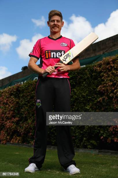 Daniel Hughes of the Sydney Sixers poses during the Big Bash League tickets on sale media opportunity at Sydney Cricket Ground on October 16 2017 in...