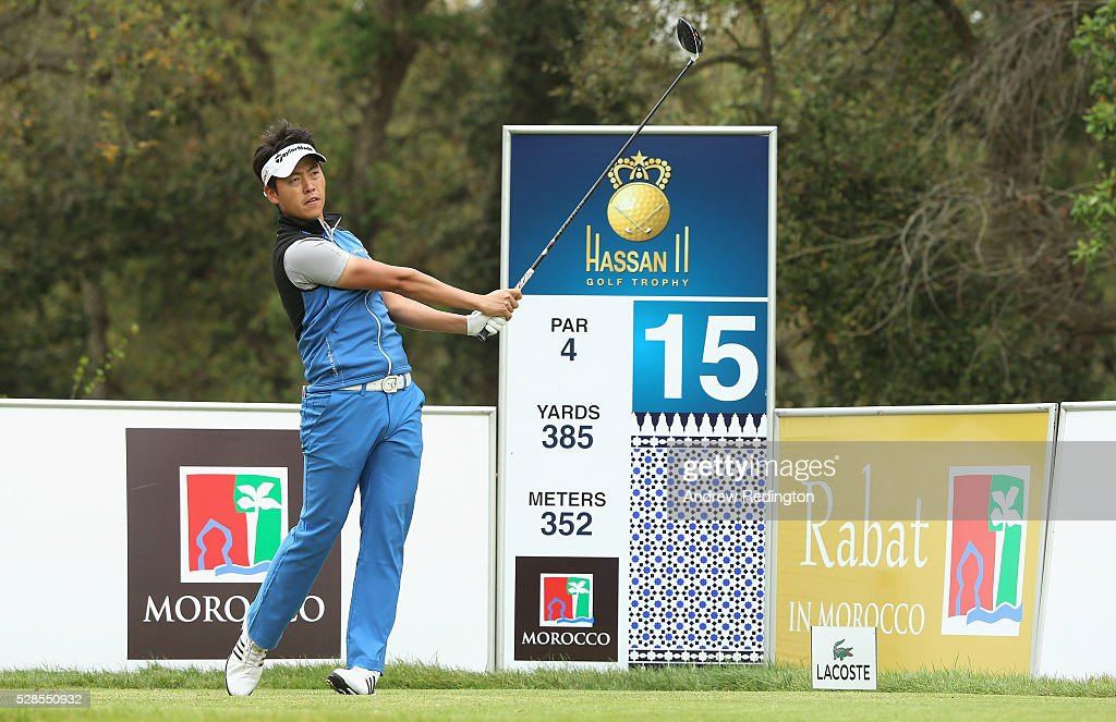 Daniel Im of the USA in action during the second round of the Trophee Hassan II at Royal Golf Dar Es Salam on May 6, 2016 in Rabat, Morocco.
