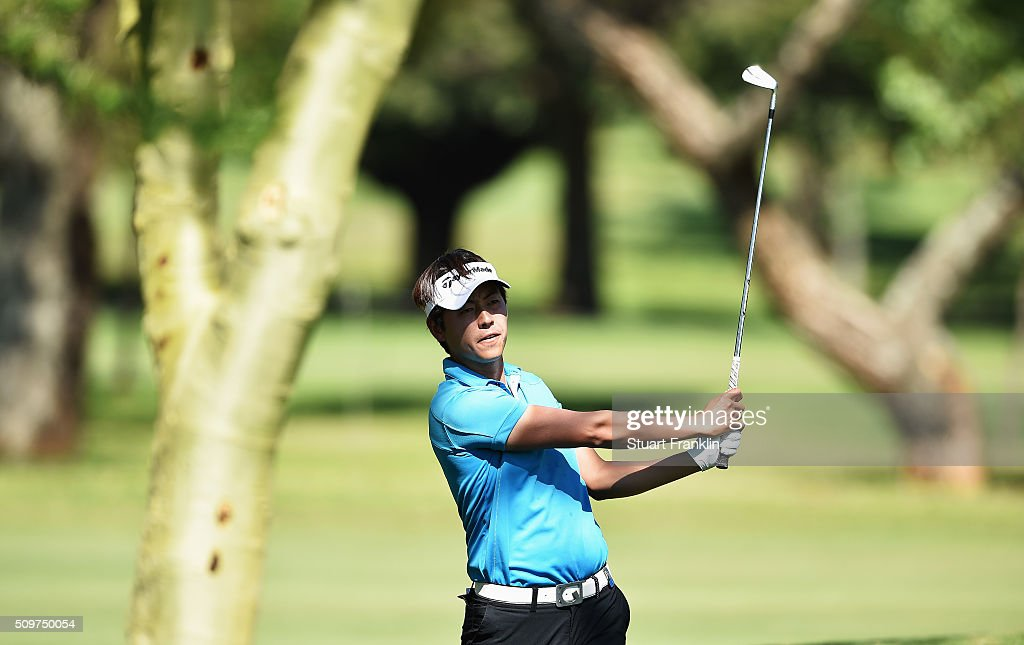 Daniel Im of USA plays a shot during the second round of the Tshwane Open at Pretoria Country Club on February 12, 2016 in Pretoria, South Africa.