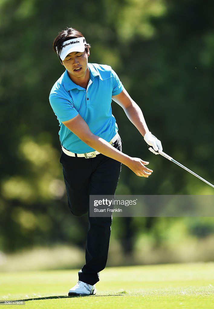 Daniel Im of USA reacts to a shot during the second round of the Tshwane Open at Pretoria Country Club on February 12, 2016 in Pretoria, South Africa.