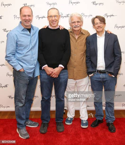 Daniel Jenkins David Chandler Ron Crawford and Keith Reddin attend the meet Greet for Playwrights Horizons New York Premiere pf 'For Peter Pan on her...
