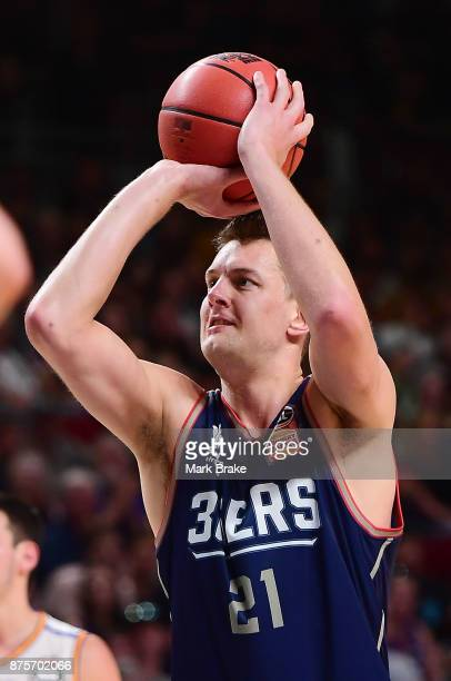 Daniel Johnson of Adelaide during the round seven NBL match between Adelaide 36ers and the Sydney Kings at Titanium Security Arena on November 18...