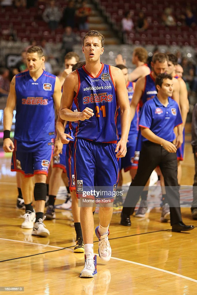 Daniel Johnson of Adelaide leaves the court after the round 17 NBL match between the Adelaide 36ers and the Wollongong Hawks at Adelaide Arena on February 1, 2013 in Adelaide, Australia.