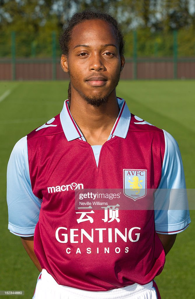 <a gi-track='captionPersonalityLinkClicked' href=/galleries/search?phrase=Daniel+Johnson+-+Soccer+Player&family=editorial&specificpeople=14584644 ng-click='$event.stopPropagation()'>Daniel Johnson</a> of Aston Villa poses during the club's 2012/13 photo call at the club's training ground at Bodymoor Heath on September 18, 2012 in Birmingham, England.
