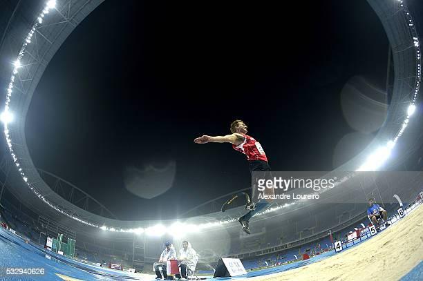 Daniel Jorgensen competes the Men's Long Junp T44 Final during the Paralympics Athletics Grand Prix Aquece Rio Test Event for the Rio 2016 Olympics...