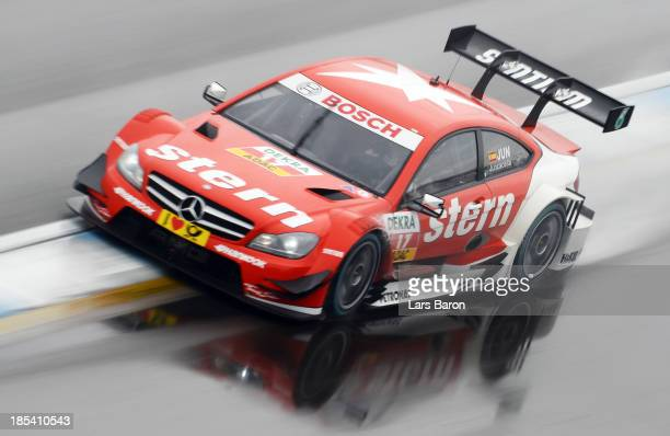 Daniel Juncadella of Spain and stern Mercedes AMG drives during the final round of the DTM 2013 German Touring Car Championship at Hockenheimring on...