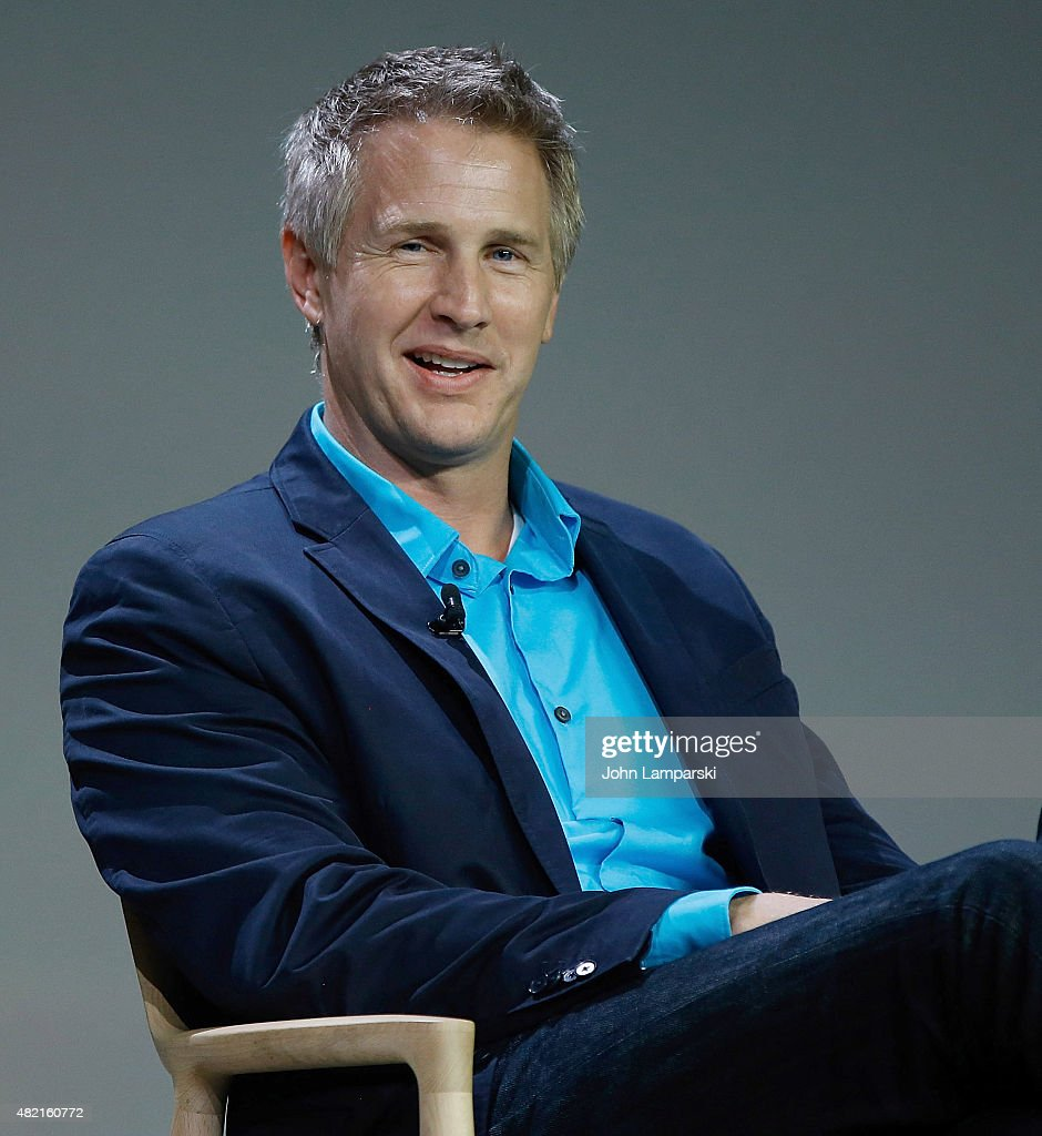 Daniel Junge speaks during meet the filmmaker series, 'A Lego Brickumentary' at the Apple Store Soho on July 27, 2015 in New York City.