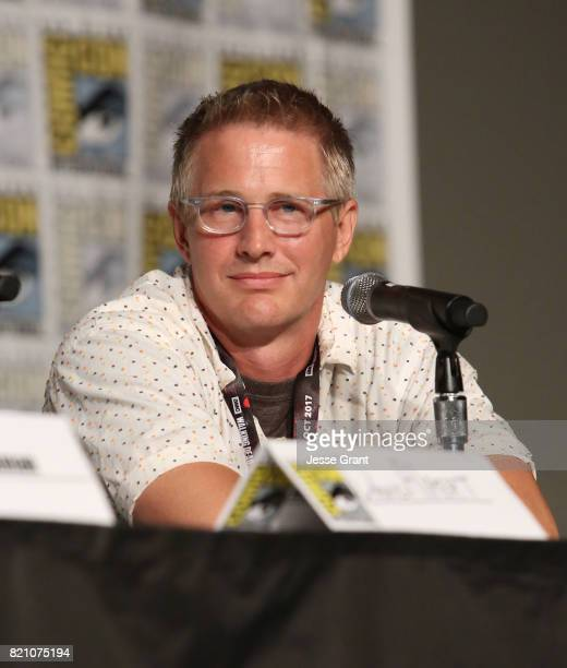 Daniel Junge speaks onstage during the Robert Kirkman's Secret History Of Comics panel at San Diego ComicCon International 2017 at the San Diego...