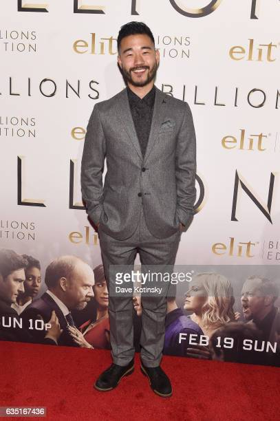 Daniel K Isaac attends the Showtime and Elit Vodka hosted BILLIONS Season 2 premiere and party held at Cipriani's in New York City on February 13...
