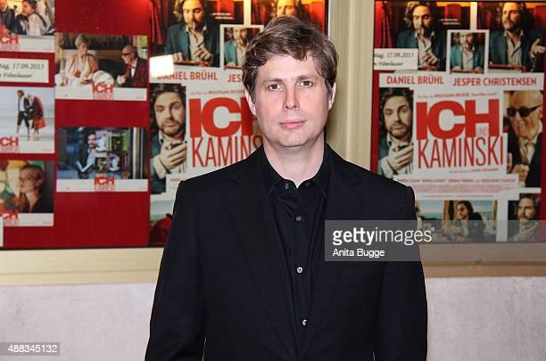 Daniel Kehlmann author of the book 'Ich und Kaminski' attends the Berlin premiere of the film 'Ich und Kaminski' at Delphi on September 15 2015 in...