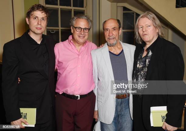 Daniel Kehlmann Laurence Boswell F Murray Abrahham and Christopher Hampton attends the press night after party for 'The Mentor' at Browns Covent...