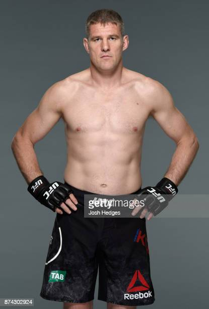 Daniel Kelly of Australia poses for a portrait during a UFC photo session on November 15 2017 in Sydney Australia