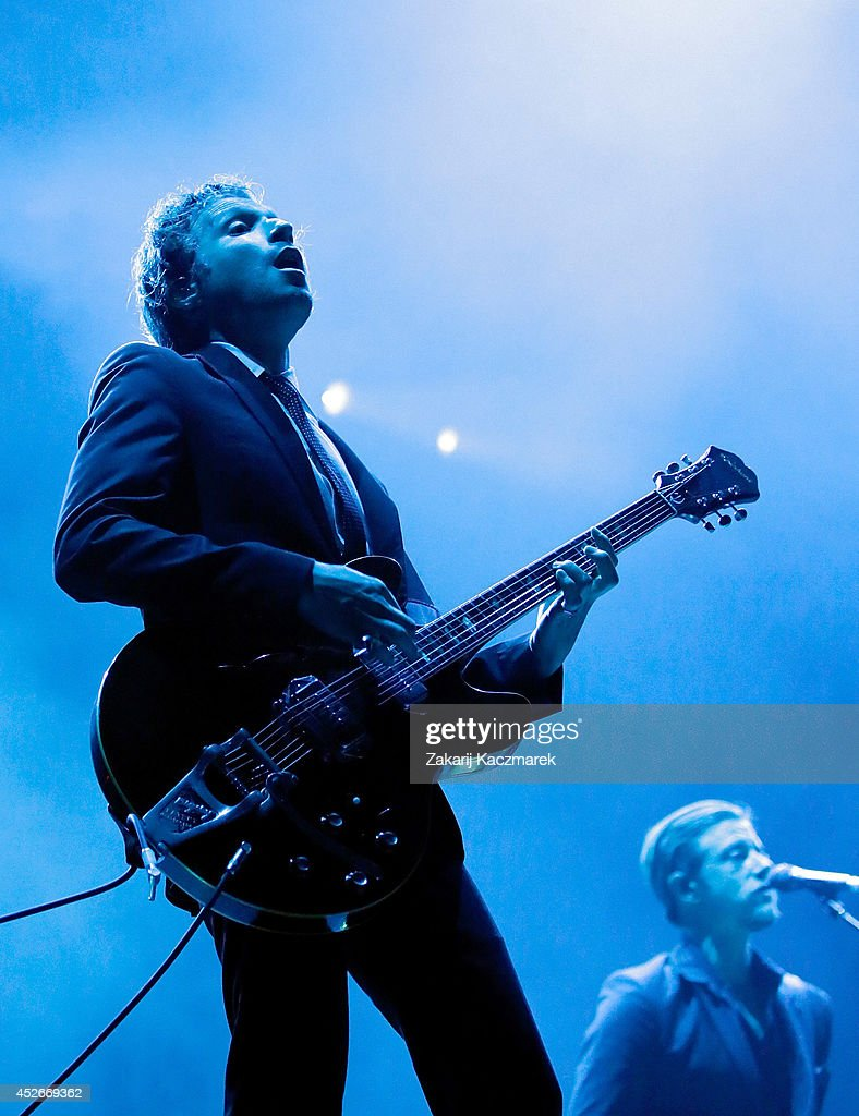 <a gi-track='captionPersonalityLinkClicked' href=/galleries/search?phrase=Daniel+Kessler&family=editorial&specificpeople=2373821 ng-click='$event.stopPropagation()'>Daniel Kessler</a> of Interpol performs on stage at Splendour In the Grass 2014 on July 25, 2014 in Byron Bay, Australia.
