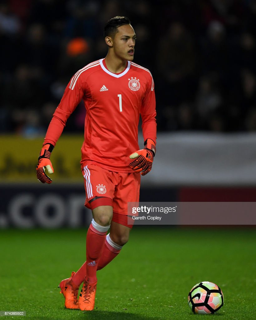 Daniel Klein of Germany during the International Match between England U17 and Germany U17 at The New York Stadium on November 14, 2017 in Rotherham, England.