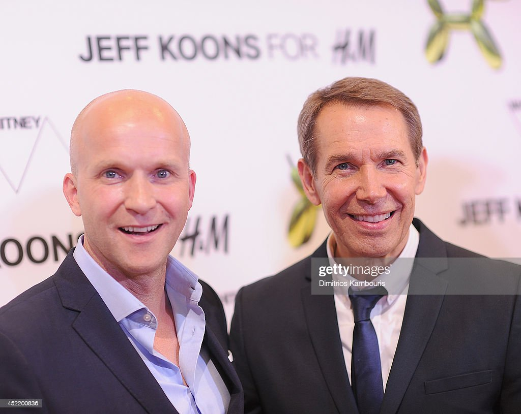 Daniel Kulle and <a gi-track='captionPersonalityLinkClicked' href=/galleries/search?phrase=Jeff+Koons&family=editorial&specificpeople=220233 ng-click='$event.stopPropagation()'>Jeff Koons</a> attend the H&M Flagship Fifth Avenue Store launch event at H&M Flagship Fifth Avenue Store on July 15, 2014 in New York City.