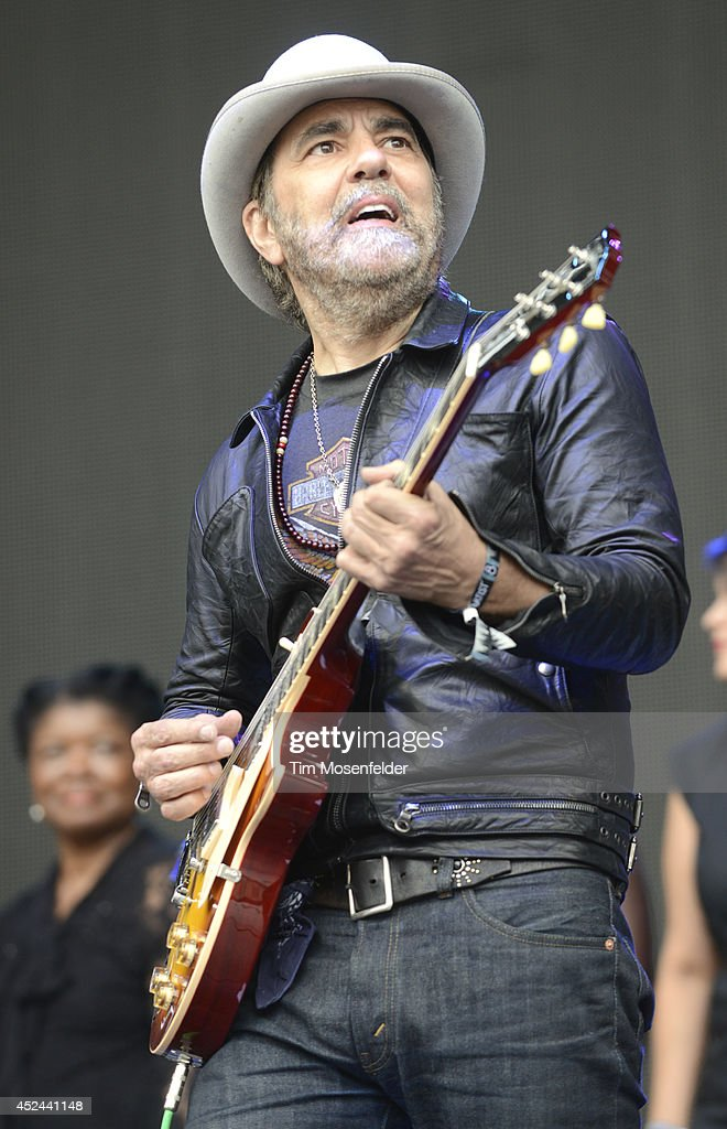 <a gi-track='captionPersonalityLinkClicked' href=/galleries/search?phrase=Daniel+Lanois&family=editorial&specificpeople=684677 ng-click='$event.stopPropagation()'>Daniel Lanois</a> of Hallelujah Train performs during the Pemberton Music and Arts Festival on July 20, 2014 in Pemberton, British Columbia.
