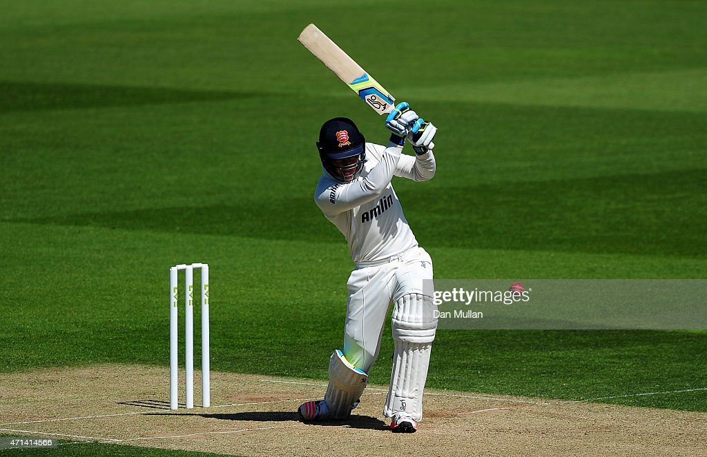 Daniel Lawrence of Essex bats during day three of the LV County Championship Division Two match between Surrey and Essex at The Kia Oval on April 28...