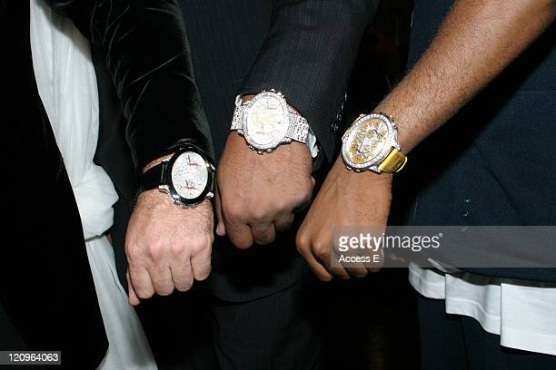 Daniel Lazar Damon Dash and Grath displaying their Tiret New York Watches