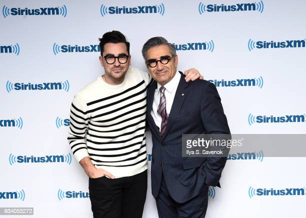 Daniel Levy and Eugene Levy visit the SiriusXM Studio on February 6 2017 in New York City