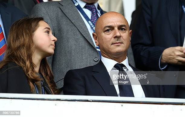 Daniel Levy Chairman of Tottenham Hotspur looks on during the Premier League match between Tottenham Hotspur and Liverpool at White Hart Lane on...