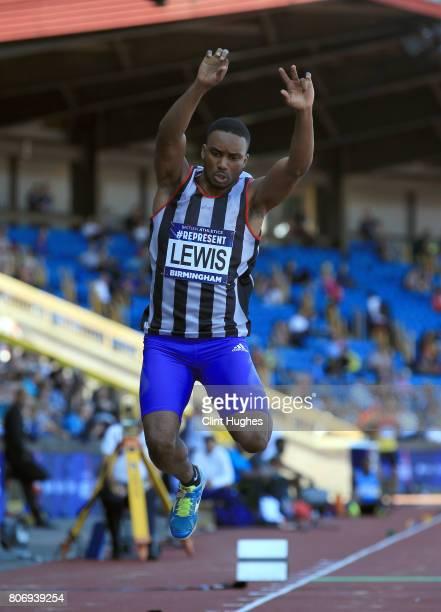 Daniel Lewis in action in the men's triple jump final during the British Athletics World Championships Team Trials at Birmingham Alexander Stadium on...
