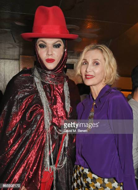 Daniel Lismore and Allegra Hicks attend The Fashion Awards 2017 nominees party in partnership with Swarovski at 5 Hertford Street on October 23 2017...