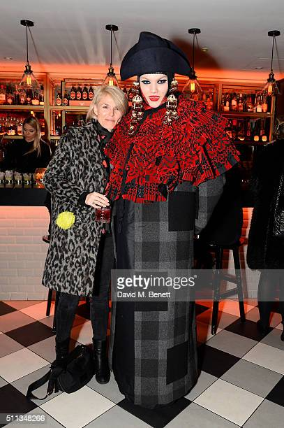 Daniel Lismore and Guest attend a party following the Pam Hogg show at Fashion Scout during London Fashion Week Autumn/Winter 2016/17 at Bonbonniere...