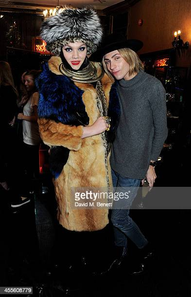 Daniel Lismore and Kyle De'Volle attend as Kyle De'Volle and Charlotte Simone launch their fur collection at The Box Boutique on December 12 2013 in...