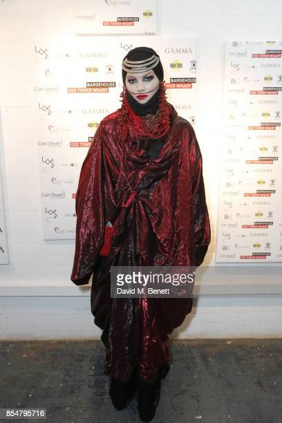 Daniel Lismore attends a private view of the 'Benbai Expo' at The Barge House Oxo Tower Wharf on September 27 2017 in London England