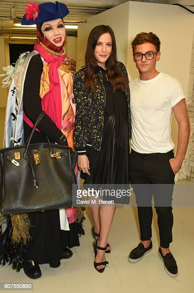 Daniel Lismore Liv Tyler and Tom Daley attend as Belstaff and Liv Tyler launch the Spring Summer 17 collection during London Fashion Week at Victoria...