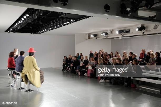 Daniel LismoreHenry PalmerHelen SahiOya Barlas BingulArizona Muse and Amanda Johnston attend Sustainable Angle during London Fashion Week September...