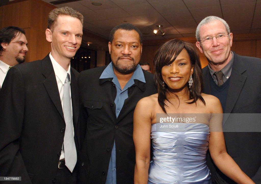 Daniel Llewelyn, producer, Laurence Fishburne , Angela Bassett and ...