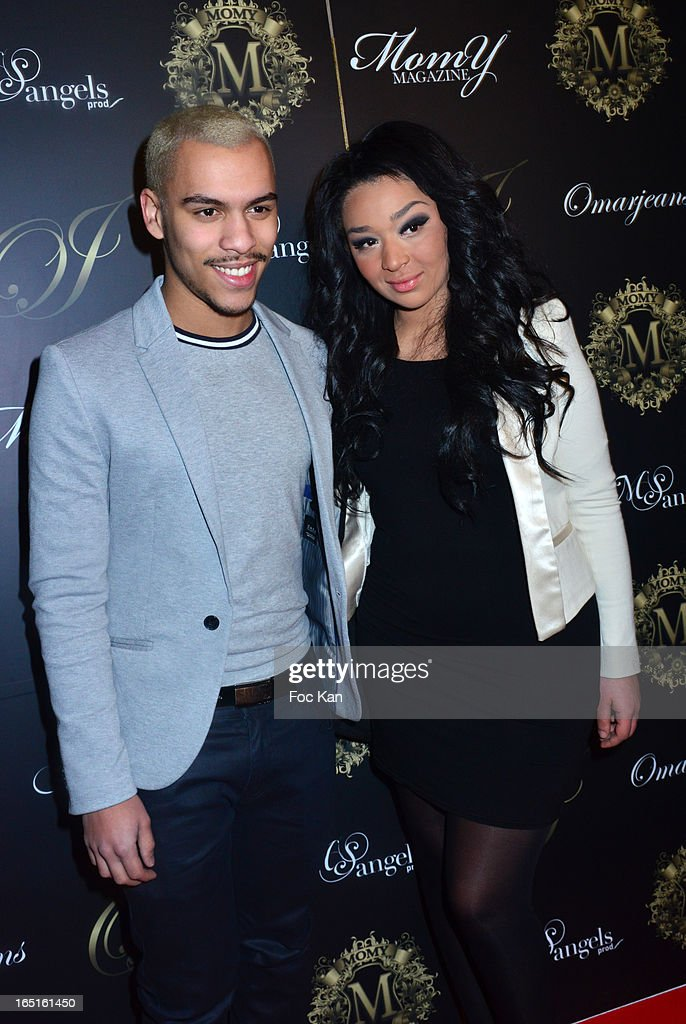 Daniel Loeillot from Star Academy and a guest attend the 'OmarJeans' Launch Party At The Pavillon Champs Elysees on March 31, 2013 in Paris, France.