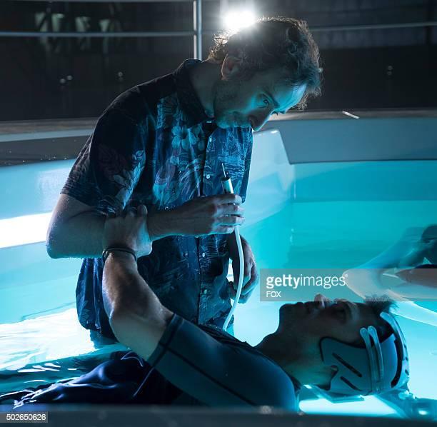 Daniel London and Nick Zano in the allnew Everybody Runs season finale episode of MINORITY REPORT airing Monday Nov 30 on FOX