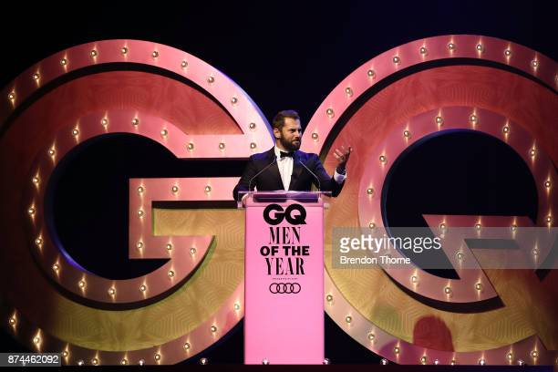 Daniel MacPherson speaks during the GQ Men Of The Year Awards Ceremony at The Star on November 15 2017 in Sydney Australia