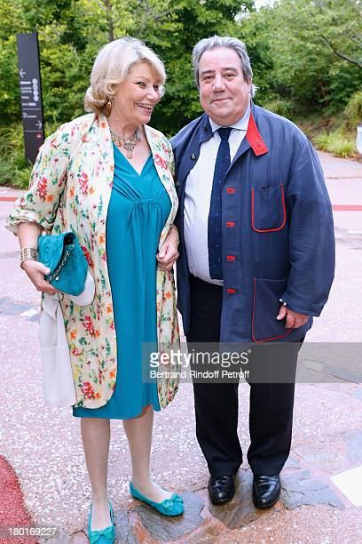 Daniel Marchesseau and Jacqueline Frydman attend 'Friends of Quai Branly Museum Society' dinner party at Musee du Quai Branly on September 9 2013 in...
