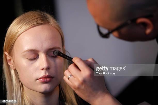 Daniel Martin makeup artist for Mary Kay at Mary Kay Makeup Sponsorship For Naeem Khan Bridal Fashion Week Presentation on April 17 2015 in New York...
