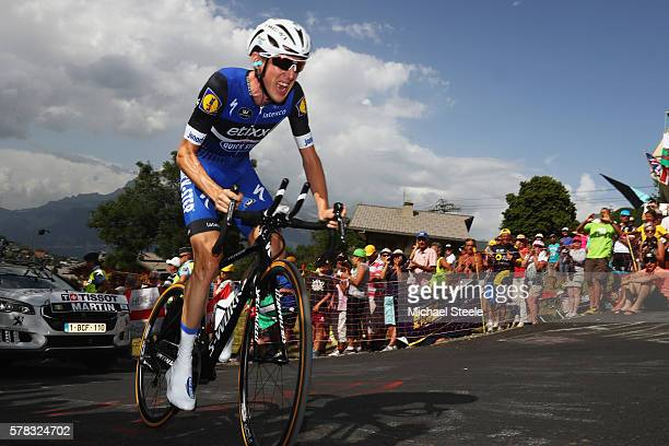 Daniel Martin of Ireland and EtixxQuick Step in action during stage eighteen of the 2016 Le Tour de France from Sallanches to Megeve on July 21 2016...