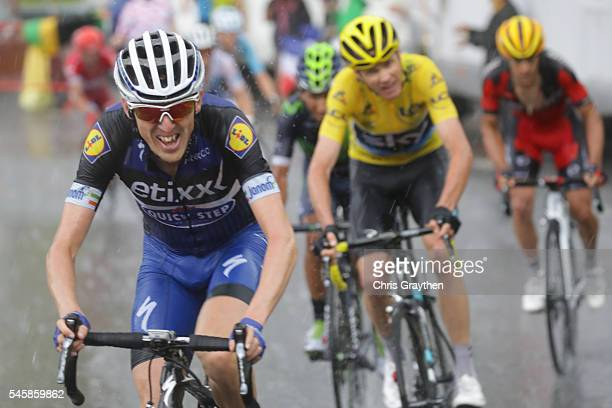 Daniel Martin of Ireland riding for EtixxQuick Step rides up the Andorre Arcalis during stage nine of the 2016 Le Tour de France a 1845km stage from...
