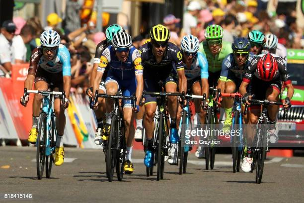 Daniel Martin of Ireland riding for QuickStep Floors crosses the finish line during stage 16 of the 2017 Le Tour de France a 165km stage from Le...