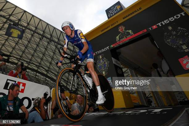 Daniel Martin of Ireland riding for QuickStep Floors rides during the individual time trial stage 20 of the 2017 Le Tour de France a 225km stage on...