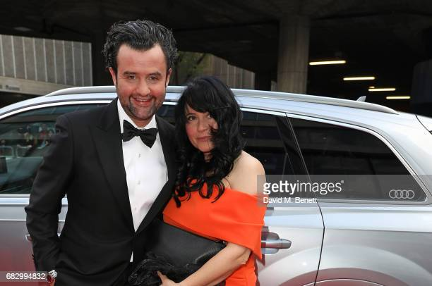 Daniel Mays and Louise Burton arrive in an Audi at the BAFTA TV on Sunday 14 May 2017 on May 14 2017 in London United Kingdom